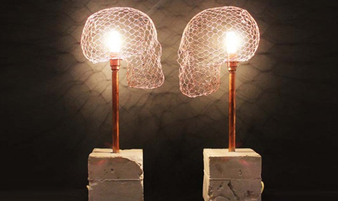 Skull Lamp by Studio Baag