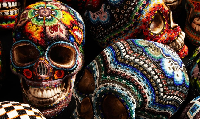Our Exquisite Corpse Beaded Skulls