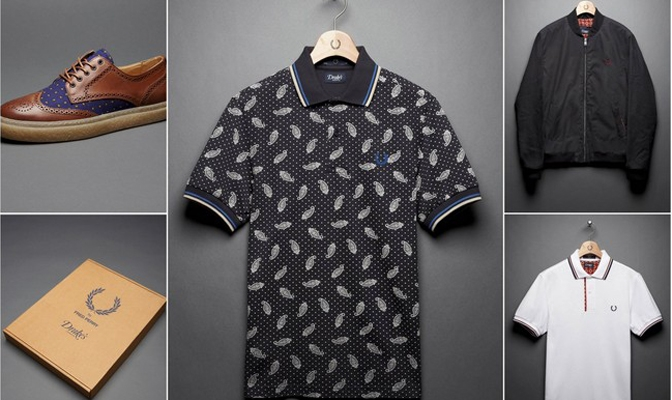 Fred Perry x Drakes of London Blank Canvas