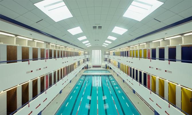 Parisian swimming pool series by Franck Bohbot