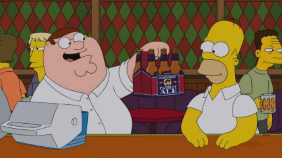 ¡Los Simpson y Padre de Familia unidos!