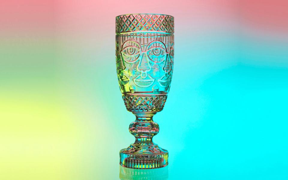 Un caliz pop obra de Craig & Karl para Waterford Crystal