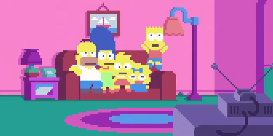 The Simpsons pixelados