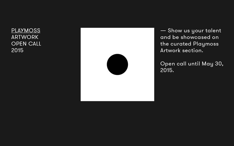 Open Call: Artwork by Playmoss