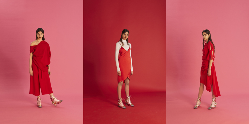 Pepa Salazar SS16: Pretty in pink… red and black