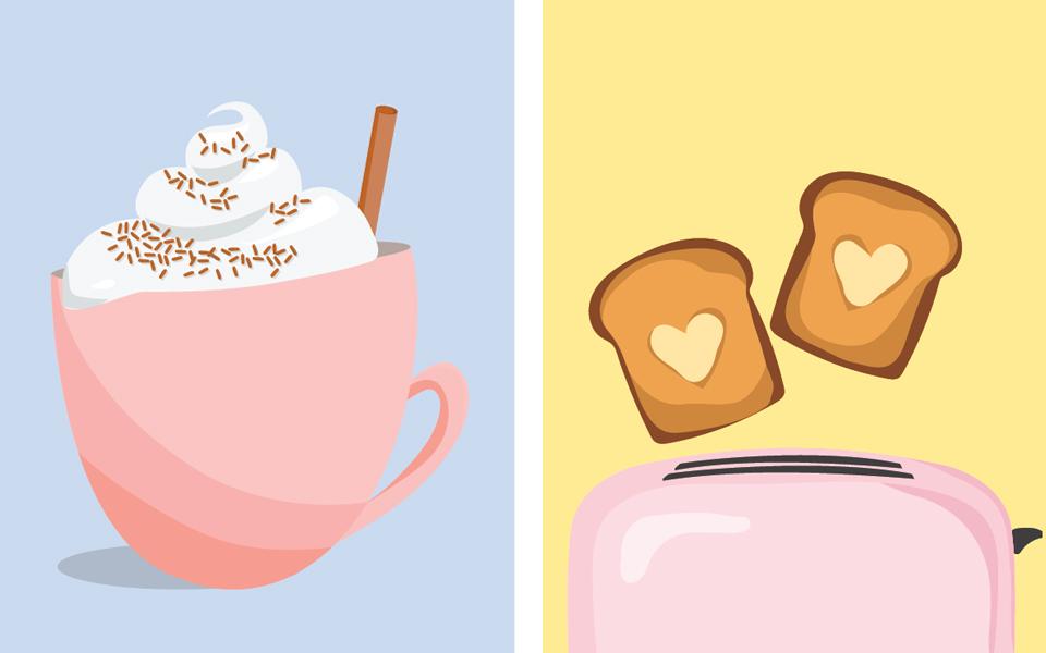 Breakfast Flat Illustrations