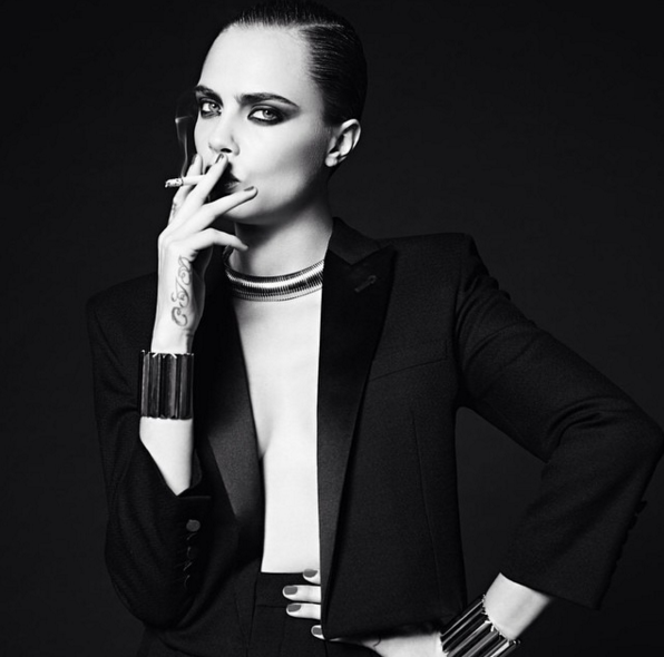 Saint Laurent Cara Delevinge