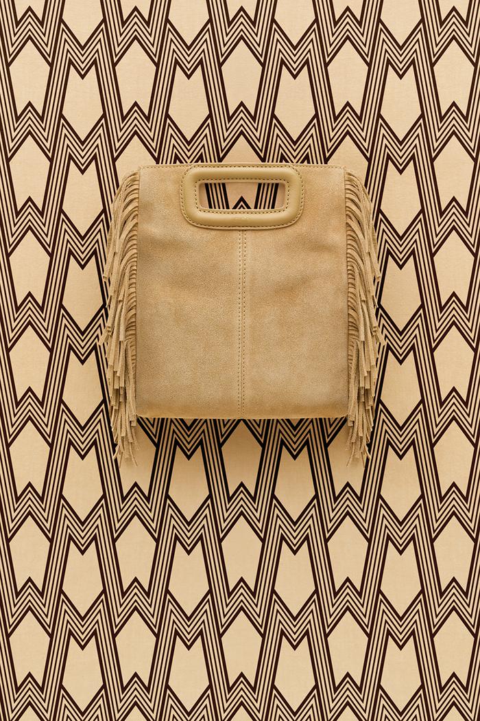 Maje_M Print background_Camel