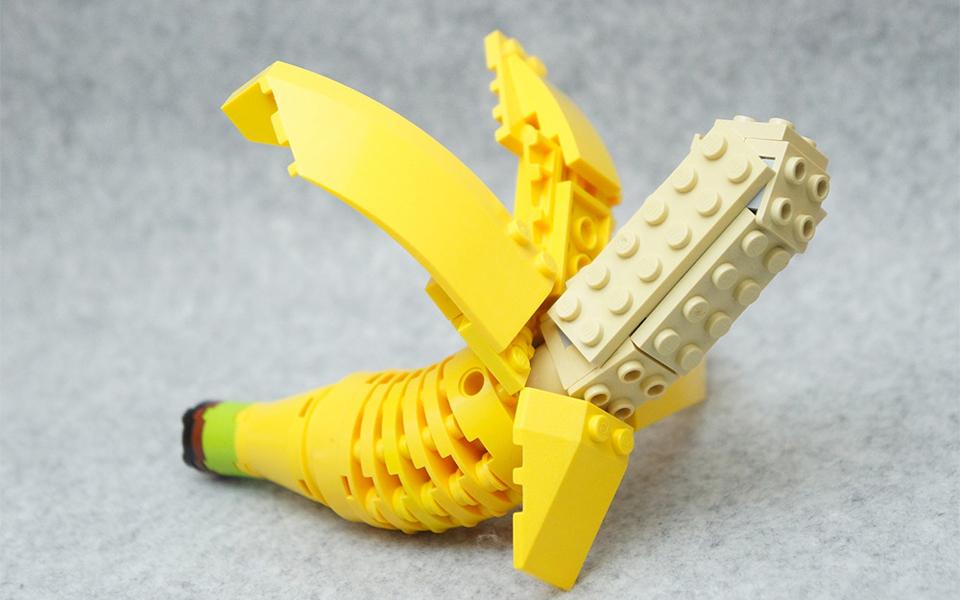 Foodie esculturas hechas con Lego