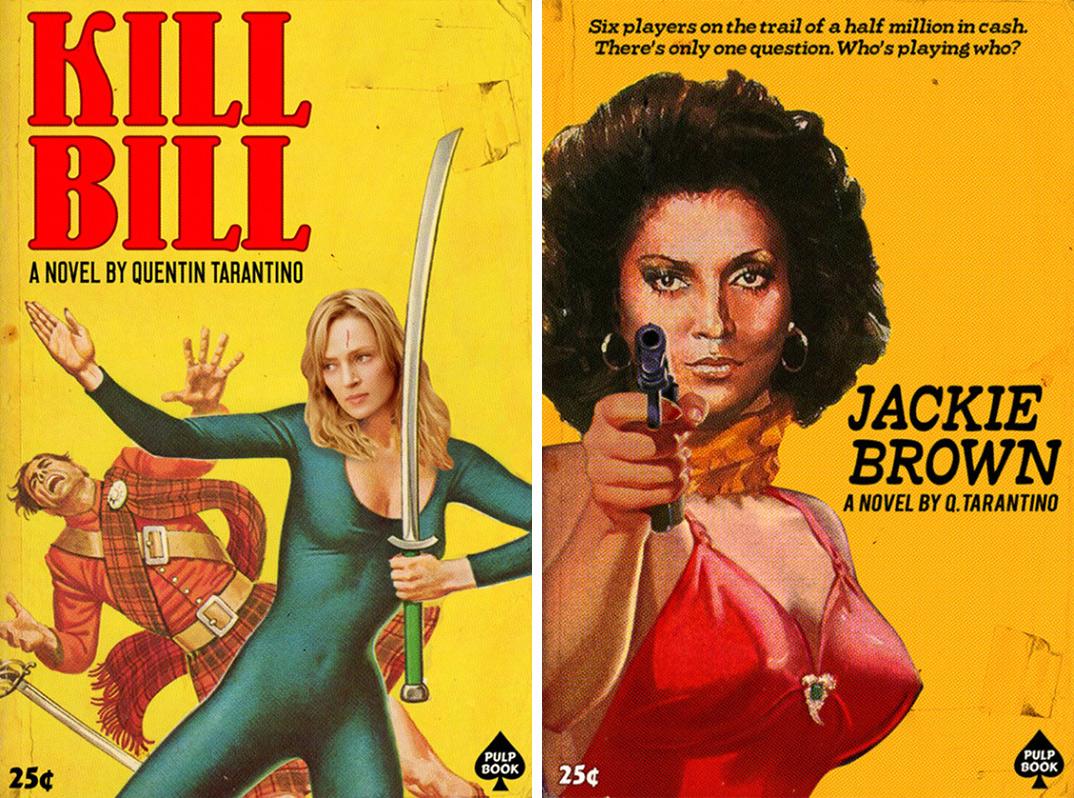 Los films de Tarantino, en libros Vintage
