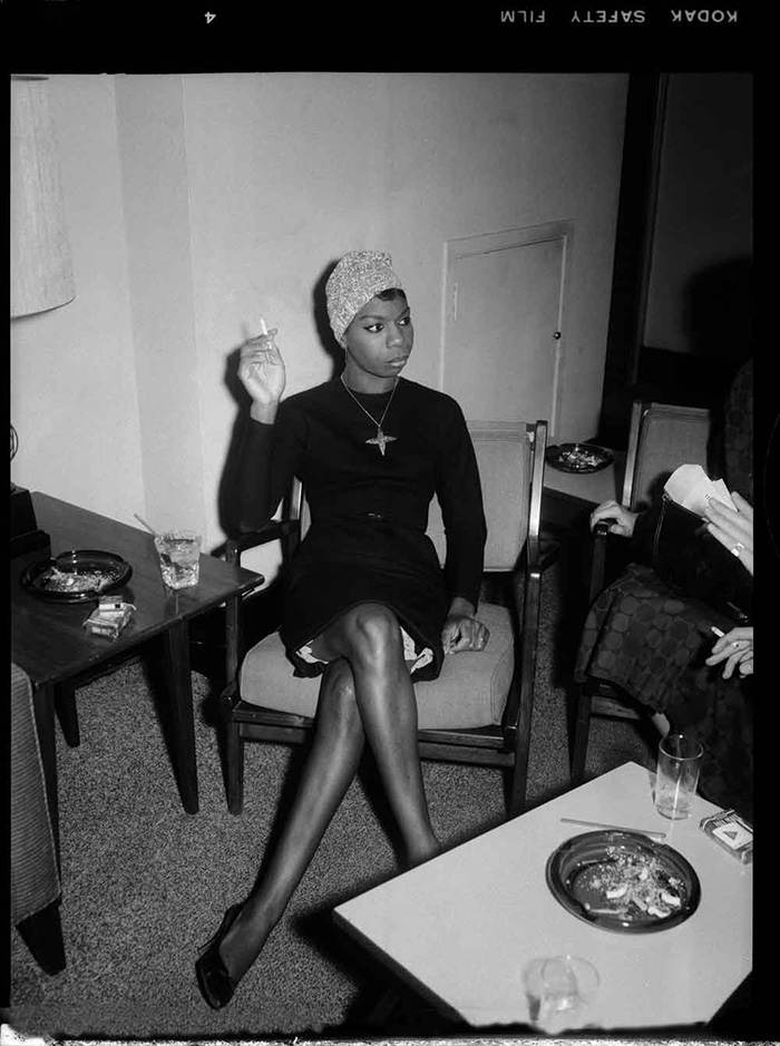 "Stunning shot of Nina Simone backstage in Pittsburgh by legendary photographer Charles ""Teenie"" Harris, circa 1965."