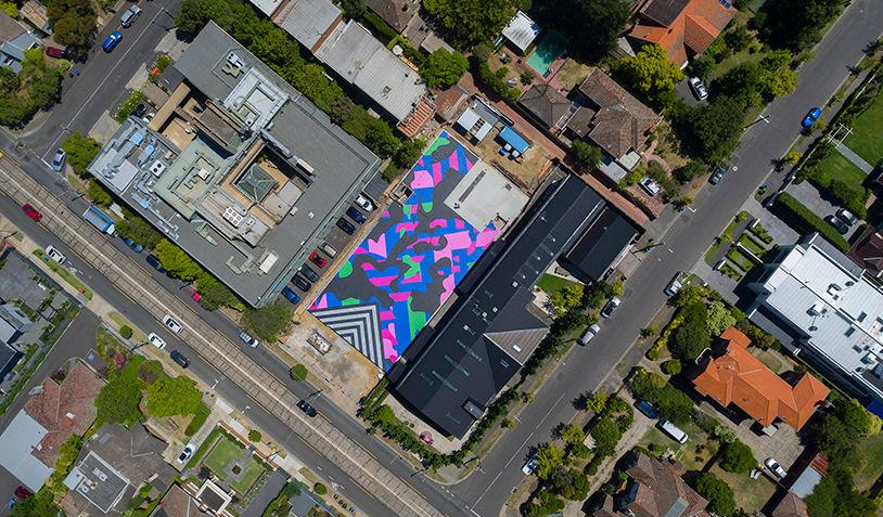 Nuevo museo en Melbourne, inaugurado con un imponente mural efímero