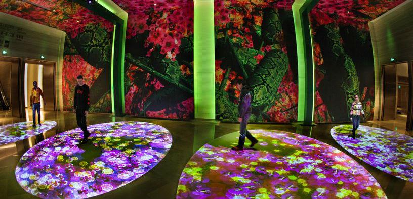 Miguel Chevalier llena el Jing An Kerry de Shangai de bosques digitales