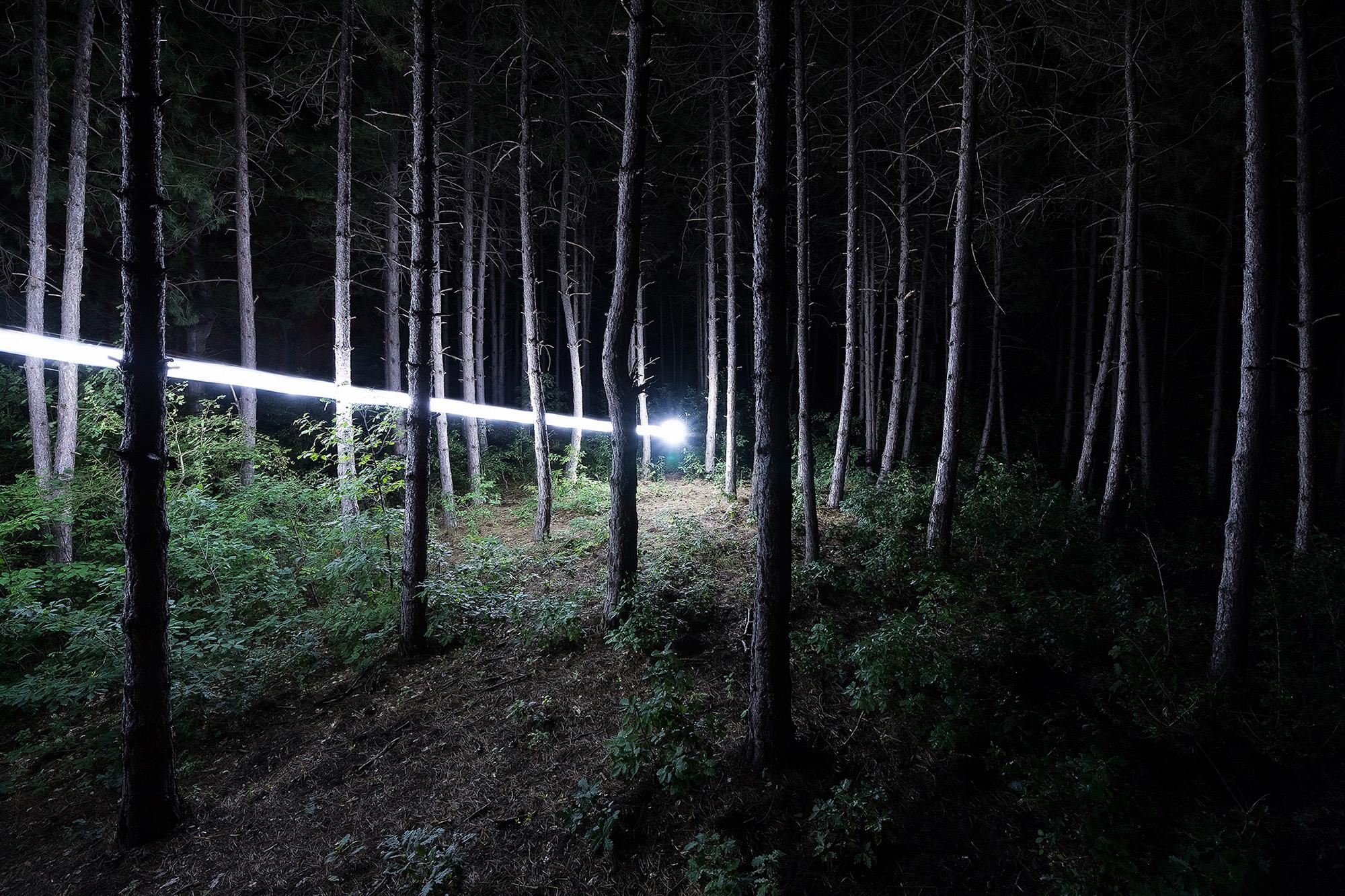 El rayo de luz durante la Luna Nueva por David Lados