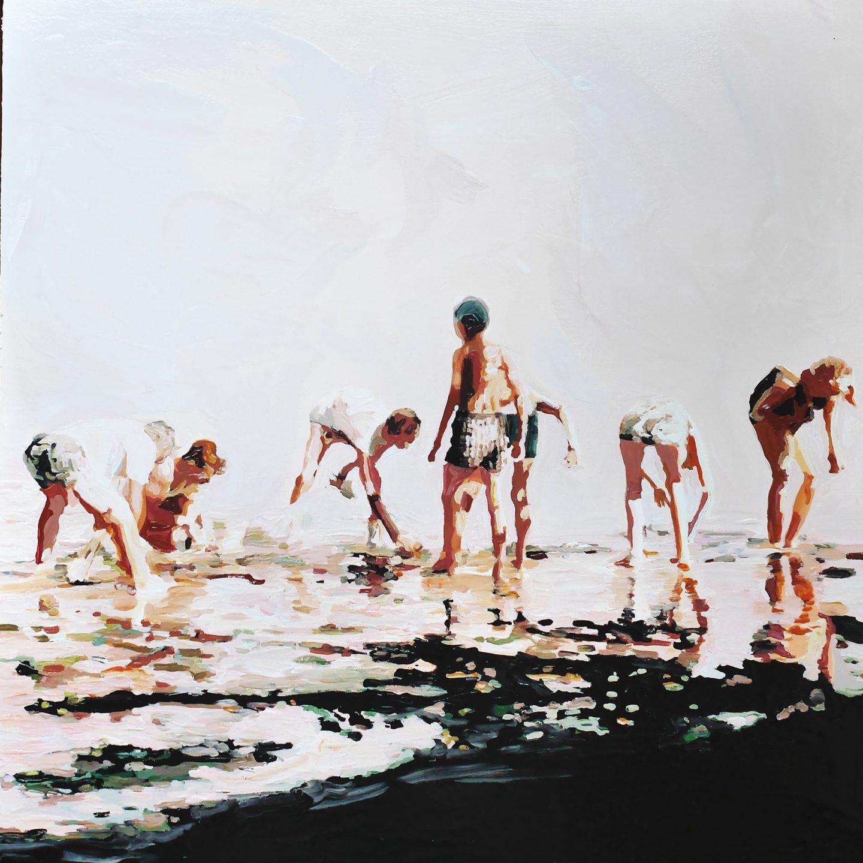 Pintura y fotografía se unen en las obras de Lisa Golightly