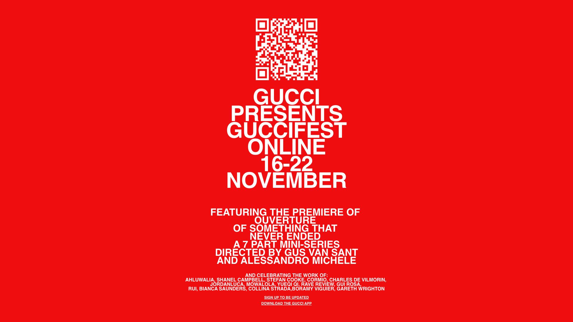 Gucci lanza GucciFest, su primer festival de cine online y abierto al público