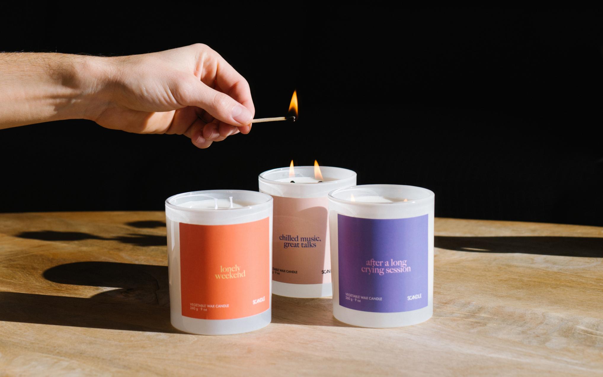 Scandle fusiona aroma y música en una vela de lo más especial