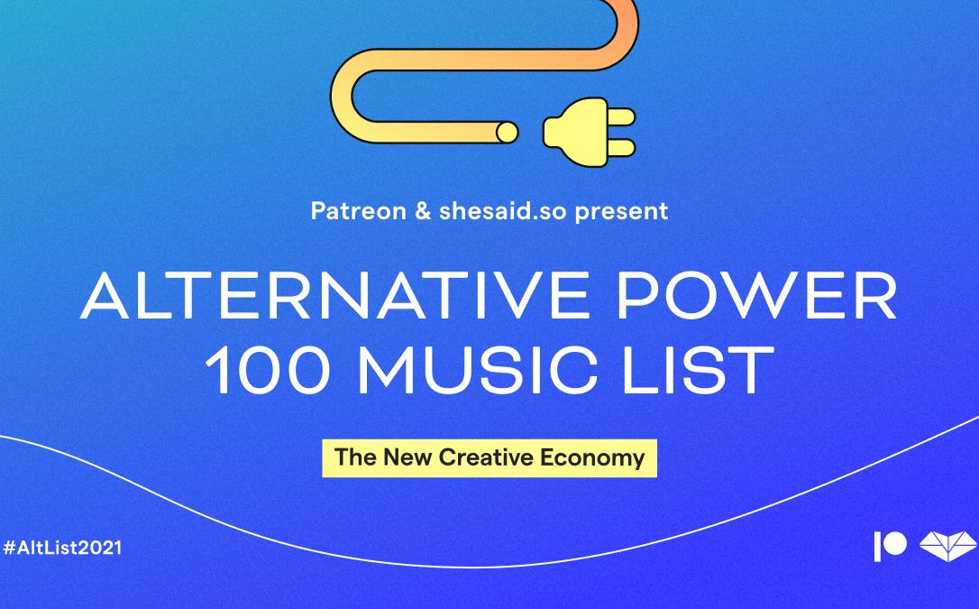 Patreon y shesaid.so se unen para defender la Nueva Economía Creativa a través de la #AltList2021